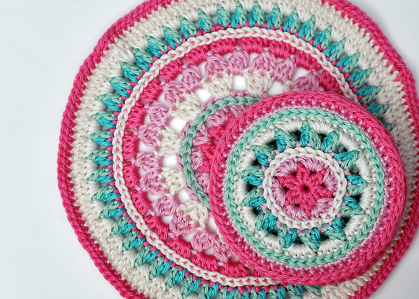 Summer Rose Coasters Pattern A Conversation With Moo